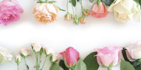 女性らしい花束のイメージ