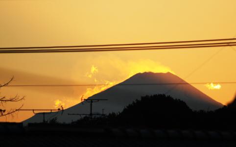 東京から見える富士山の写真
