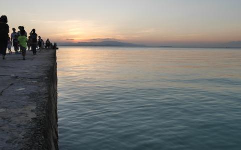 きしもとデザインの竹富島の西桟橋の写真