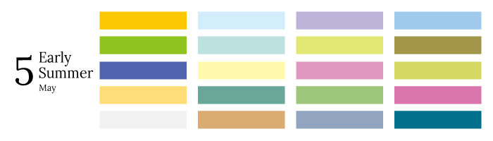 きしもとデザインが提案する5月の色